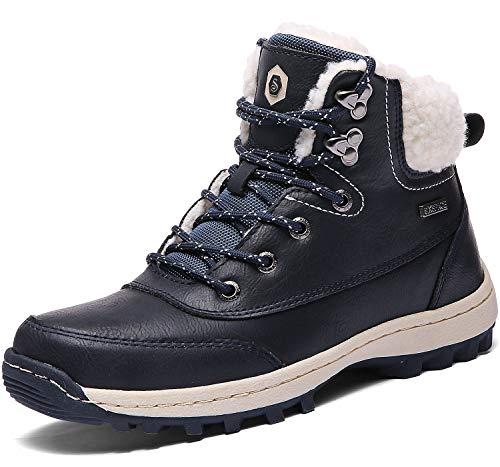 SIXSPACE Damen Winterschuhe Warm Gefütterte Winterstiefel Outdoor Schneestiefel Winter Boots(Blau, 38 EU)
