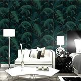 3D Wallpaper Chinesische Retro-Palme Blätter Tapete Nordic Wohnzimmer TV-Hintergrund Vliestapete Kaufen Sie Drei Get One Free (Color : L00506)