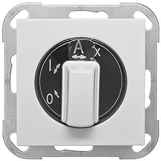 Außenlichtschalter, Zentralplatte System AS, alpinweiß
