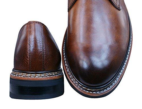 chaussures habillées Hyde P720350 cuir de CAT Caterpillar Men Rust Brown brown