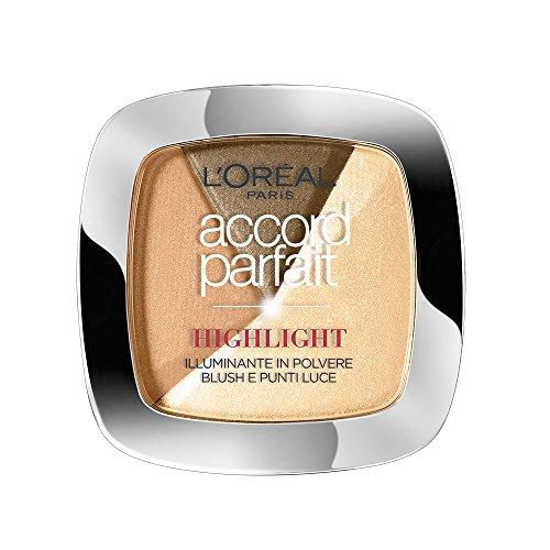 L'Oréal Make Up Designer Paris Accord Parfait Cipria Illuminante, 102D