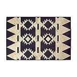 BAGEHUA Teppich Europäischen Retro Geometrische Wohnzimmer Couchtisch Sofa Ethnischen Stil Schlafzimmer Zimmer Rechteckigen Vollen Laden,100cm×150cm,A