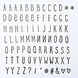 KING DO WAY 85 Pcs Lettres Enseignes Lumineuses Symboles Pour Boîte Lumineuse LED A4