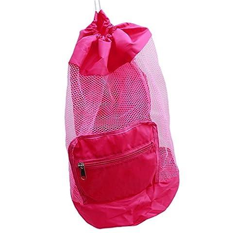 ODN Beach Spielzeugtasche Mesh Spielzeug Tunnelzug Strand Bags schwimmen und
