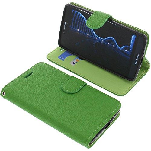 foto-kontor Tasche für TP-Link Neffos C5 Book Style grün Schutz Hülle Buch