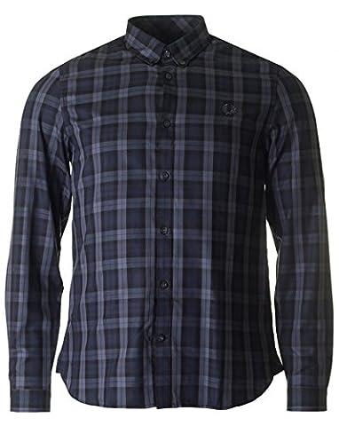 Fred Perry Winter Tartan Shirt in Black Medium