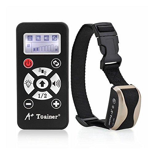 [ VERSION 2016 ] A+ Trainer A170 Collier de Dressage Anti-Aboiement Etanche avec Fonctionnement Automatique (SANS Télécommande) ou Manuel (AVEC la Télécommande) - Deux Modes de Stimulation : Vibration et Sonore