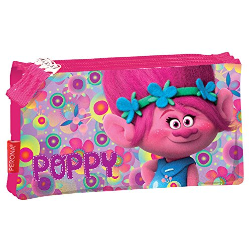 Trolls 53609 Poppy Triple Pouch Pencil Case