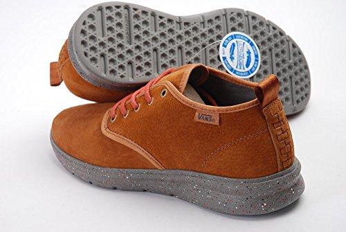 Vans Iso 2 Mid Plus Unisex-Erwachsene Sneaker Braun (camping/glazed Ginger/brushed Nickel)