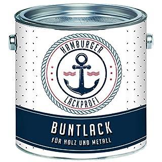 Buntlack GLÄNZEND für Holz und Metall Weiß RAL 9010 Metalllack Metallfarbe Holzlack Holzfarbe // Hamburger Lack-Profi (1 L)