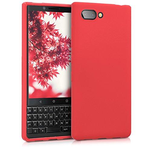 kwmobile BlackBerry KEYtwo (Key2) Hülle - Handyhülle für BlackBerry KEYtwo (Key2) - Handy Case in Rot matt