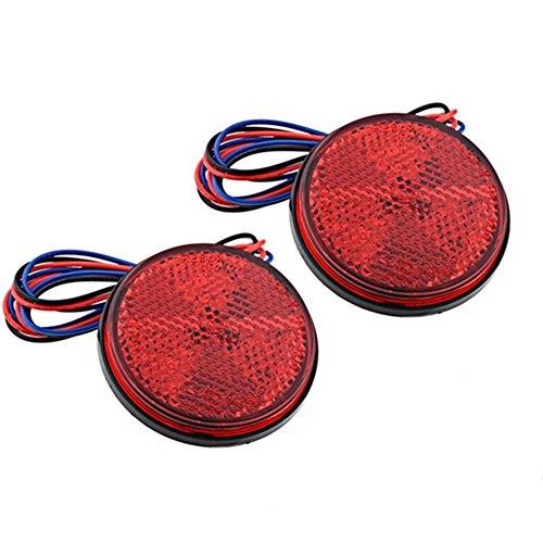 Für Rote Led-lichter Lkws (Qiorange Universal Bremsen Rücklicht Anhänger RV ATV 24 LED-Platz Motorrad LKW Red (Rote Licht))