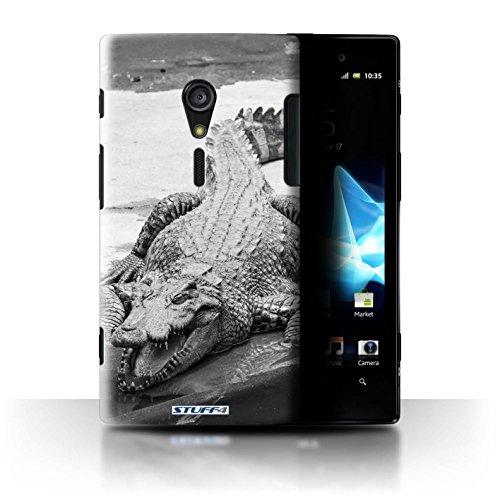 Stuff4® Hülle/Hülle für Sony Xperia ion LTE/LT28 / Krokkodil/Alligator Muster/Zoo-Tiere Kollektion