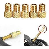 5Casquillos adaptadores para válvulas de bicicletas, perfectos para acoplar y adaptar bombas de aire