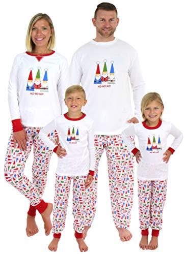 Sleepyheads Sets Familiares de Pijamas de Navidad con Gnomos a Juego (SHM-5009-W-EU-XL)