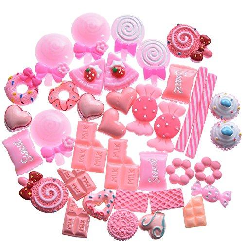 40 Stück Slime Charms Süßigkeiten Schleim Perlen Süßigkeiten Ornamente für Schleim Dekor Zubehör