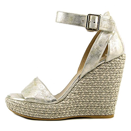 Stuart Weitzman Mostly Synthétique Sandales Compensés Pale Gold Clouded Nap