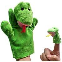 2pcs Marionetas Mano Dedos Peluches Animales Figuras - Serpiente