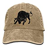 Okhagf Adult Unisex Cotton Jeans Cap Old-Fashion Adjustable Hat Taurus Zodiac Sign The Bull 7 Colors Available