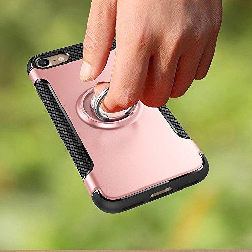 GHC Cases & Covers, Für iPhone 7 & 6s & 6, Samsung Galaxy S7, Huawei P9, Xiaomi Redmi 3, Sony Xperia Z3, Universal Litchi Texture Vertikale Flip Upright Gitter PU Ledertasche / Taille Tasche mit zurüc Rose gold