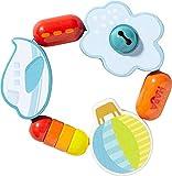 HABA 303919 - Greifling Fliegerspaß | Holzgreifling mit Flugzeug, Wolke und Ballon | Baby-Spielzeug ab 6 Monaten