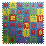 #9: Generic Baby Colorful EVA Foam Alphabet Letters Numbers Mat Jigsaw Puzzle