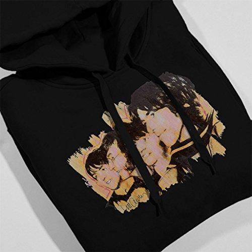 Sidney Maurer The Beatles Side Profile Official Women's Hooded Sweatshirt Black