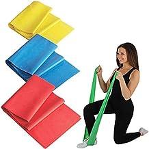 vfeng elástica bandas de ejercicio resistencia Kit de entrenamiento gimnasio en casa Fitness portátil para rehabilitación, Ejercicio, Entrenamiento de Fuerza (Pack de 3)