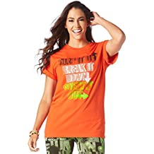 Zumba Fitness Dance it Out té Unisex Tops, todo el año, mujer, color Heatwave, tamaño medium