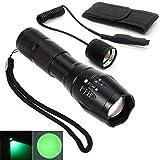LED-Taschenlampe für nächtliche Beobachtungen, mit grünem und rotem LED-Licht, mit Zoomfunktion