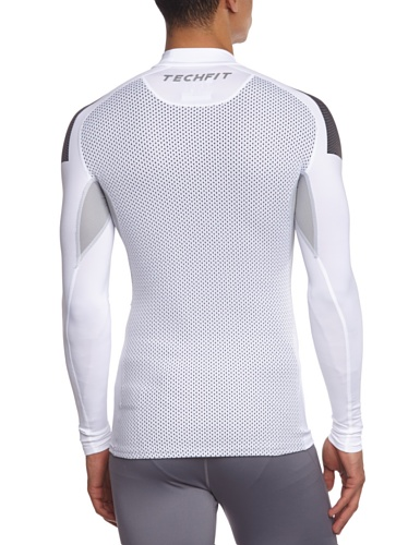 adidas Techfit Cool Mock - Maglia da allenamento uomo, Bianco (bianco), XXL Bianco - bianco