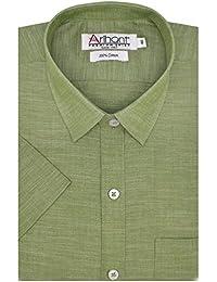 Arihant Men's Plain Half Sleeves Reguler Fit 100% Cotton Formal Shirts