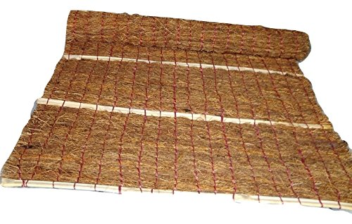 MA Aromatic Vetiver Khus Handcrafted Cooling Curtains (3\6.ft.Brown} for Window,Doors and Balcony.