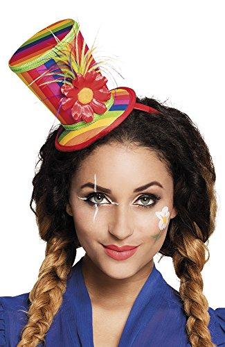 erdbeerclown - Kostüm Haarreif Tiara Blume Regenbogen, (Regenbogen Tiara)