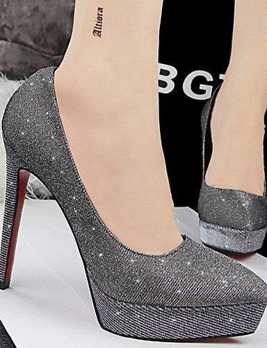 ShangYi Chaussures Femme - Mariage / Habillé - Noir / Bleu / Rose / Argent / Gris / Or - Talon Aiguille - Talons - Talons - Paillette Silver