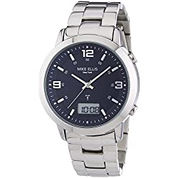 Mike Ellis SL4-60219 New York Men's Watch XL Analogue Digital Quartz Stainless Steel