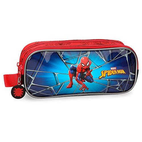 Estuche doble compartimento Spiderman Black