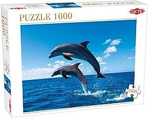 Tactic Two Dolphins Jump 1000 pcs Puzzle - Rompecabezas (Puzzle Rompecabezas, Fauna, Niños y Adultos, Dolphin, Niño/niña, 8 año(s))