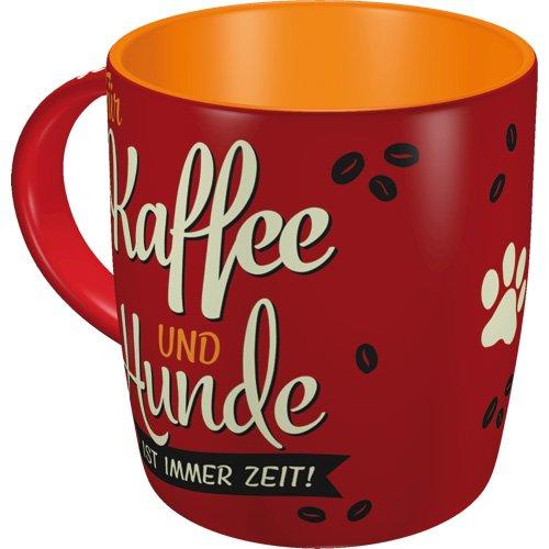 Nostalgic-Art 43041 PfotenSchild - Kaffee & Hunde  Retro Tasse für Hunde-Liebhaber   Kaffee-Becher   Geschenk-Tasse   Vintage