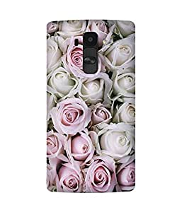 White And Pink Rose LG G4 Case