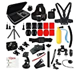 #5: J Sports Action Camera Accessories Kit For GO PRO 3 PLUS Black