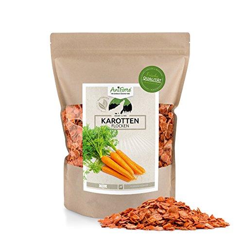 AniForte B.A.R.F. Line Karotten-Möhrenflocken 1 kg - versch. Größen - Naturprodukt für Hunde (Frische Lieferung Diät)