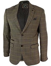 Herrensakko Braun Vintage Fischgräte Tweed Design Eng Tailliert Lässig