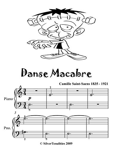 Danse Macabre Easy Piano Sheet Music Tadpole Edition  (English Edition)