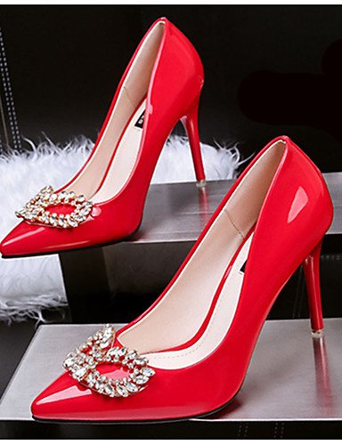 WSS 2016 Chaussures Femme-Décontracté-Noir / Violet / Rouge / Argent-Gros Talon-Talons-Talons-Laine synthétique black-us7.5 / eu38 / uk5.5 / cn38