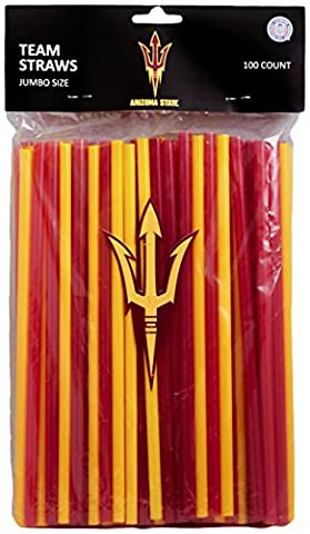 NCAA Arizona State Sun Devils 100-Pack Team Straws,10
