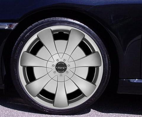 "Lot de 4enjoliveurs Argenté 14""Volkswagen VW Corrado du Nord, Fox, Golf 2, 3, 4, Cabrio, VENTO, JETTA"
