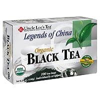 Uncle Lee's Tea Organic Black Tea, 100-Count Box (Pack of 4)