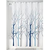 InterDesign Forest Fabric Shower Curtain, 183 x 183 cm - Blue/Gray - Best Reviews Guide