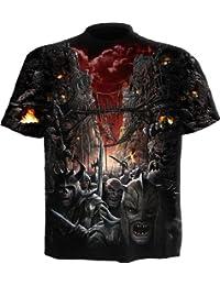 Spiral T-shirt pour homme Motif Devils Pathway Noir